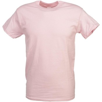Vêtements Homme Polos manches courtes First Price Heavy rose   mc coton Rose