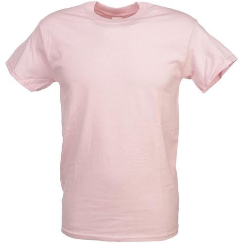 Vêtements Homme Polos manches courtes Toptex Heavy rose   mc coton Rose