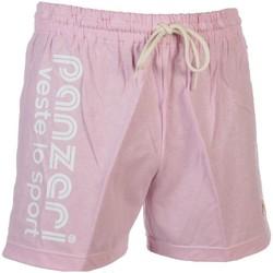 Vêtements Homme Shorts / Bermudas Panzeri Uni a rose jersey short Rose