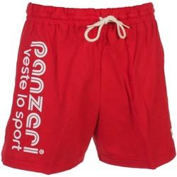 Vêtements Homme Shorts / Bermudas Panzeri Uni a rouge jersey short Rouge