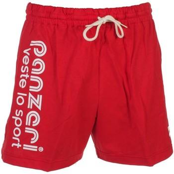 Shorts / Bermudas Panzeri Uni a rouge jersey short