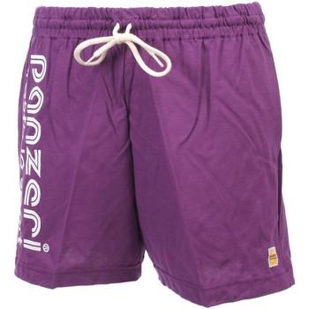 Vêtements Homme Shorts / Bermudas Panzeri Uni a violet jersey short Violet