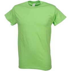 Vêtements Homme T-shirts manches courtes First Price Heavy lime  mc coton Vert Anis