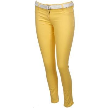 Vêtements Femme Pantalons 5 poches Culture Sud Igor  slim lime Jaune