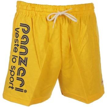Vêtements Homme Shorts / Bermudas Panzeri Uni a jaune jersey short Jaune
