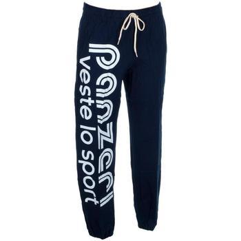 Vêtements Homme Pantalons de survêtement Panzeri Uni h navy jersey pant Bleu marine / bleu nuit