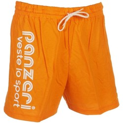 Vêtements Homme Shorts / Bermudas Panzeri Uni a orange jersey short Orange