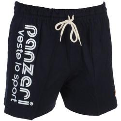 Vêtements Homme Shorts / Bermudas Panzeri Uni a navy jersey shor Bleu marine / bleu nuit