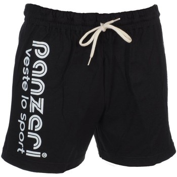Vêtements Homme Shorts / Bermudas Panzeri Uni a noir jersey shor Noir