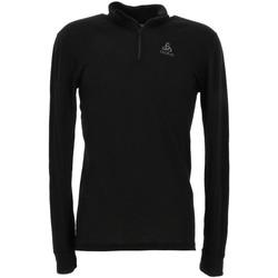 Vêtements Homme T-shirts manches longues Odlo Warm noir 1/2 zip ml tee Noir