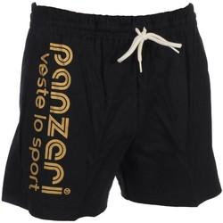 Vêtements Homme Shorts / Bermudas Panzeri Uni a nr/or jersey short Noir