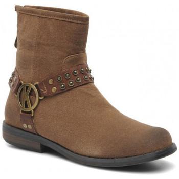 Chaussures Femme Boots Kaporal Boots  Royane Beige Noir