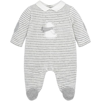 Vêtements Garçon Pyjamas / Chemises de nuit Mayoral Pyjama Bébé Garçon velours rayé Gris (rft)
