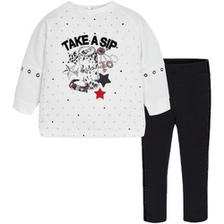 Vêtements Fille Ensembles de survêtement Mayoral Ensemble Fille Sweat+Leggings Etoile Noir Noir