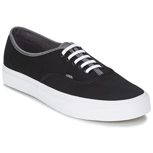 Chaussures Homme Baskets montantes Vans AUTHENTIC Noir / Gris