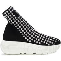 Chaussures Femme Baskets montantes Gioselin WAR STUDS Noir