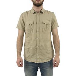 Vêtements Homme Chemises manches courtes Kaporal Chemise Roola Beige 6887