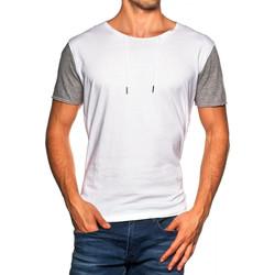 Vêtements Homme T-shirts manches courtes Japan Rags T-Shirt  Linon blanc