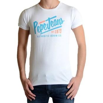 Vêtements Garçon T-shirts manches courtes Pepe jeans Tee Shirt Enfant Ace Blanc