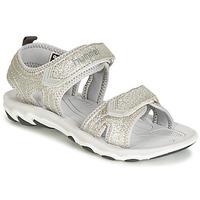 Chaussures Enfant Sandales sport Hummel SANDAL GLITTER JR Argenté