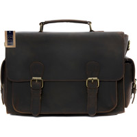Sacs Homme Porte-Documents / Serviettes Oh My Bag Sac reporter / photographe homme en cuir marron fonce