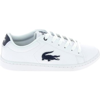 Chaussures Enfant Baskets basses Lacoste Carnaby Evo C Blanc Bleu Blanc