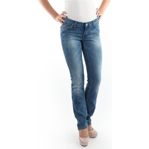 Vêtements Femme Jeans slim Lee Marlin Slim Straight L337OBDJ niebieski