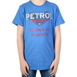 Vêtements Garçon T-shirts manches courtes Petrol Industries T-shirt Daytona Blue Bleu