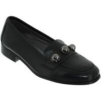 Chaussures Femme Mocassins Folies Enora Noir cuir