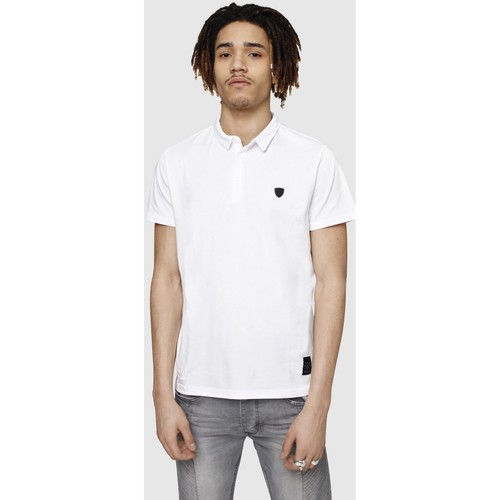 Manches Calder Polos White Polo Manor Redskins Homme Courtes b7ygY6f