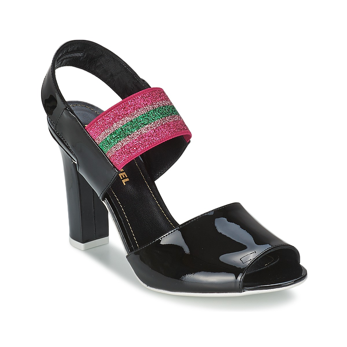 Sandale Sonia Rykiel 683902 Noir / Rose
