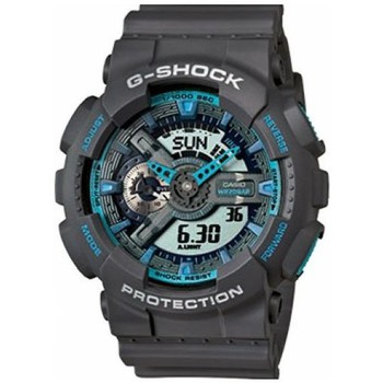 Montres Casio Montre  G-Shock Grise & Turquoise Oversize GA-110TS-8A2ER GA-110 Gris 350x350