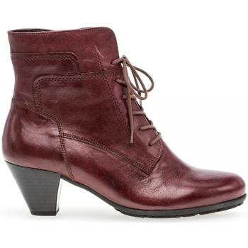Chaussures Femme Bottines Gabor Bottines à lacets Rouge