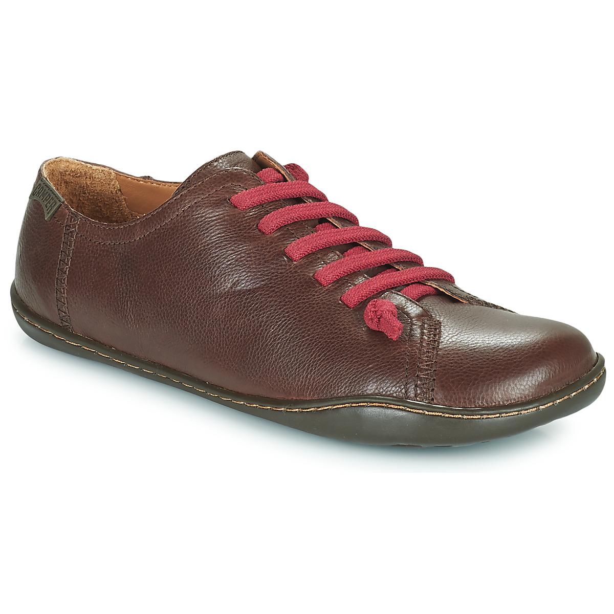 camper peu cami marron livraison gratuite avec chaussures derbies femme 130 50. Black Bedroom Furniture Sets. Home Design Ideas