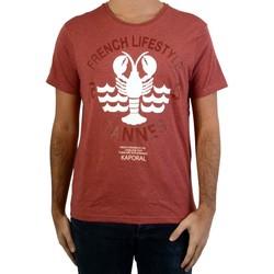 Vêtements Homme T-shirts manches courtes Kaporal Carot Rouge