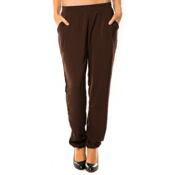 Pantalons de survêtement Dress Code Pantalon R9771 Marron