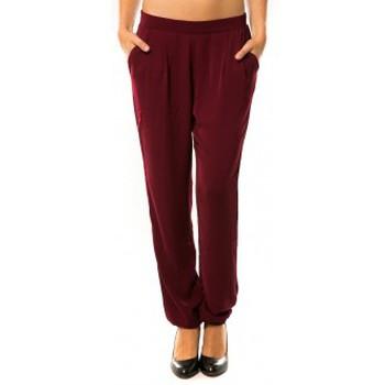 Vêtements Femme Pantalons de survêtement Dress Code Pantalon R9771 Bordeaux Rouge