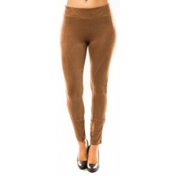 Leggings Sweet Company Pantalon Décontract Taupe
