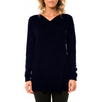 Vêtements Femme Gilets / Cardigans Vero Moda Norma Copenhagen LS Drapey Cardigan 10111324 Marine Bleu