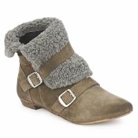 Chaussures Femme Boots Bronx CREPOU Marron / Gris