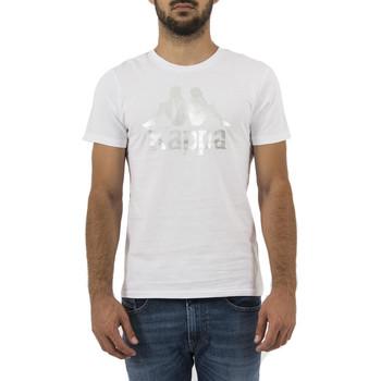 Vêtements Homme T-shirts manches courtes Kappa estessi tee blanc