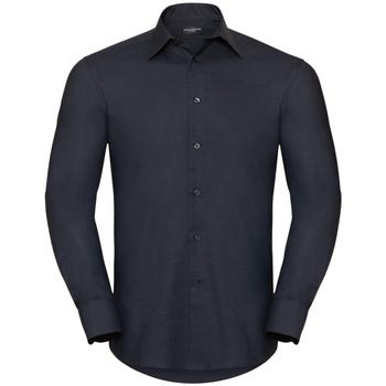 Vêtements Homme Chemises manches longues Russell Confirmer mot de passe manches longues - Homme Noir