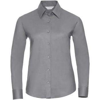 Vêtements Femme Chemises / Chemisiers Russell Collection Chemisier à manches longues BC1022 Argent