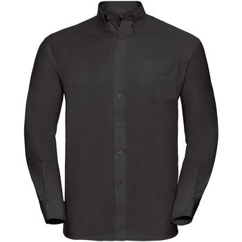 Vêtements Homme Chemises manches longues Russell - Chemise à manches longues - Homme Noir