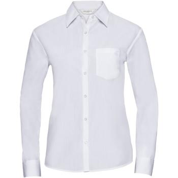 Vêtements Femme Chemises / Chemisiers Russell Chemise à Manches Courtes manches longues BC1026 Blanc
