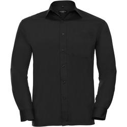 Vêtements Homme Chemises manches longues Russell 934M Noir