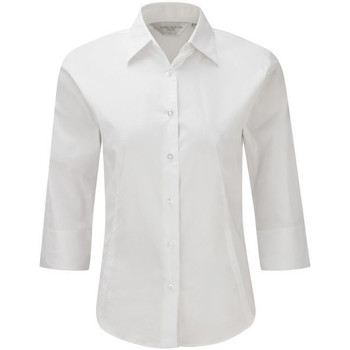 Vêtements Femme Chemises / Chemisiers Russell Collection Chemisier à manches 3/4 BC1030 Blanc