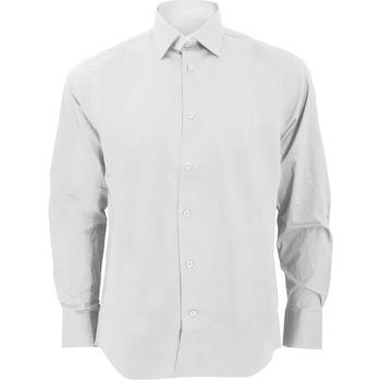 Vêtements Homme Chemises manches longues Russell Collection Chemise à manches longues BC1031 Blanc