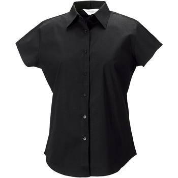 Vêtements Femme Chemises / Chemisiers Russell Chemise à Manches Courtes mancherons BC1032 Noir