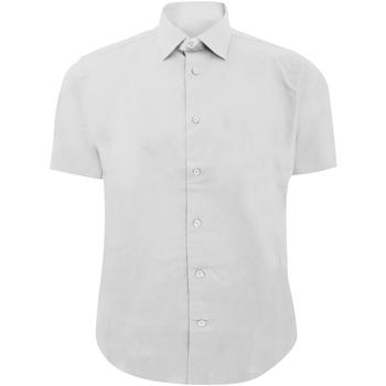 Vêtements Homme Chemises manches courtes Russell 947M Blanc